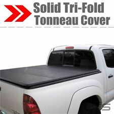 Lock Tri-Fold Hard Solid Tonneau Cover For 2009-2017 Dodge Ram 5.7 ft Short Bed