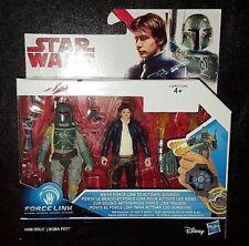 Guerra de las Galaxias Boba Fett + han solo el último Jedi Figura de Acción 2 Pack Deluxe esb Nuevo