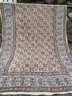 """Vtg Hand dyed Muslin Paisley Carousel Horse Tribal Floral Tapestry Bohemian 100"""""""