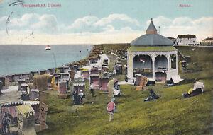 Ansichtskarten, AK, Büsum, Nordseebad, Strand, Deich, Musikpavillon, Strandkorb