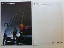 Prospekt Toyota 4-Runner zur Premiere, 1.1991, 14 Seiten + Datenblatt