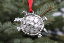 Hastings Pewter Lead Free Fine Pewter Turtle Ornament holiday animal gift US NEW