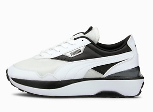 Puma Cruise Rider Womens Black & White Lace Up Trainers Sneakers Shoes UK3.5 - 6