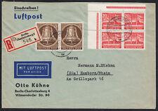 22) Berlin Mi. Nr. 113 auf Top R- Lupo Brief Eckrand 4er Block Bauten II ansehen