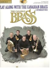 """""""Play Along With The Canadian Brass"""" French Horn Music Book/Cd-Brand New On Sale"""