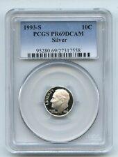 1993 S 10C Silver Roosevelt Dime Proof PCGS PR69DCAM