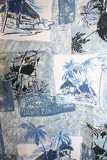 Mens Hawaiian Shirt Large Seawind Palm Trees Island Paradise Cocopalms US  EUC