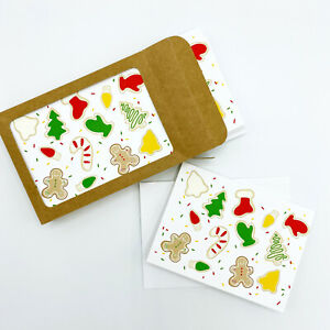 Christmas Cookies Set of 10 Illustrated Boxed Christmas Note Cards
