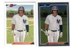2020 Bowman Heritage Jasson Dominguez Base + Chrome Lot RC New York Yankees HOT