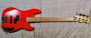 Fender Precision Bass Allparts Fiesta Red Parts Frankenbass Custom Bass