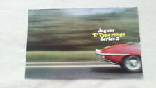 32B 113 Jaguar E-Type Serie 2 4,2 Liter Cabrio Coupe Prospekt Brochure deutsch
