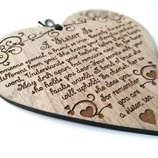 A Sister Is.. Stunning Gift For A Sister. Wooden Plaque. Xmas Birthday Present