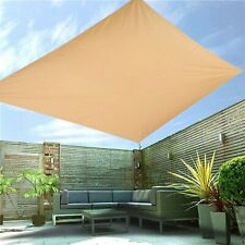 More details for heavy duty sun shade sail garden patio awning waterproof canopy 98% uv block