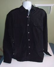Nautica Nylon Shirt Jacket Windbreaker Sz XL Black