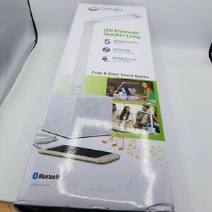 Ottlite LED Bluetooth Speaker Desk Lamp - White New