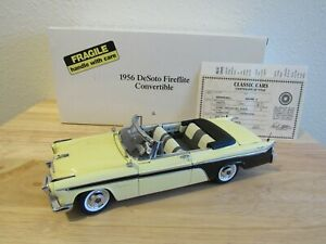 1956 DESOTO FIREFLITE  CONVERTIBLE  1/24 DANBURY MINT LTD EDITION-SUPERB,