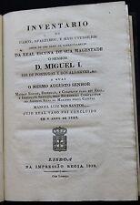 1832 D. MIGUEL I Portugal Shipbuilding 3 rare Monographs ROYAL SHOONER  Navy