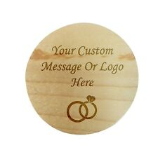 Custom Personalize Ring Box Engraved Wedding Proposal Engagement Bearer Message