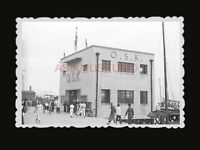 1940s JAPANESE OSK SHIPPING HARBOR RICKSHAW SEA VINTAGE B&W Hong Kong Photo 1550