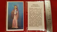 Oracion De La Santa Muerte Holy Death Holy Prayer Card Novena  Spanish Estampas