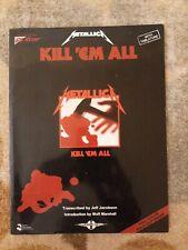 Metallica Kill Em All Guitar Tab Sheet Music 12 Heavy Metal Rock Songs Book NEW