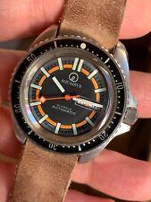 VINTAGE aquadive Da Uomo Diver Watch MONNIN caso 42mm AUTOMATICO SWISS MADE ETA 2879