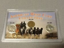 Vtg America West Coin Set - rare coins- 2 Buffalo/Indian Nickel, Indian Penney