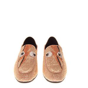 RRP €210 LOLA CRUZ Leather Loafer Shoes Size 39 UK 6 US 9 Rhinestones Slip On