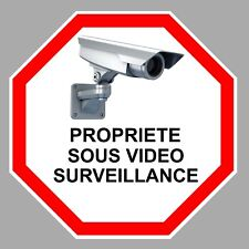 VIDEO SURVEILLANCE PROPRIETE ALARME CAMERA SECURITE 9cm STICKER VA095