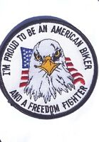 """Vintage Harley Davidson Proud to Be An American Biker Patch 3 1/2"""""""