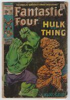 Fantastic Four #112 (1971, Marvel) Hulk vs Thing, Stan Lee, Buscema, G/G+