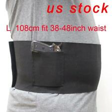 US STOCK  Adjustable Belly Band Waist Pistol Gun Holster & 2 Mag Pouches L Size