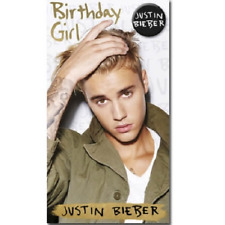 Justin Bieber Purpose Birthday Girl Card With Badge