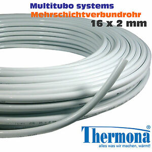 Alu-Verbundrohr 16x2 mm Multitubo Mehrschichtverbundrohr ähnl. ALPEX od. UPONOR