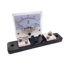 US Stock Analog Panel AMP Current Ammeter Meter Gauge 85C1 0-20A DC & Shunt