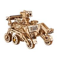 Robotime 3D Wooden Puzzle Solar Energy Toy Curiosity Rover Model Building Kits
