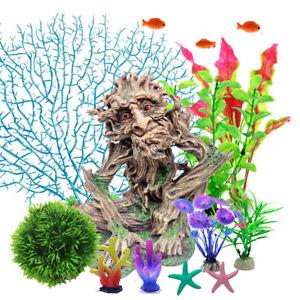 Aquarium Artificial Coral Ornament Plant Fish Tank Landscape Decoration Kit Tree