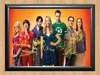 The Big Bang Theory Cast Full Signed Autographed A4 Print Poster TV Show Series