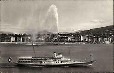 Schiffe ~1950/60 Schiffsfoto-AK Personen Fahrgastschiff LAUSANNE in Geneve Genf