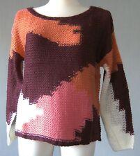 Mehrfarbige hüftlange Damen-Pullover & -Strickware mit grober Strickart
