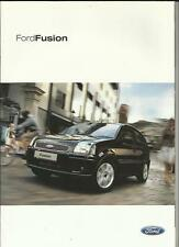 FORD FUSION 1, 2, 3 AND 4 SALES BROCHURE APRIL 2004
