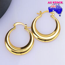 Fashion 18K Yellow Gold Filled Big Round Hoop Earrings