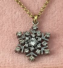 "*NIB* Authentic Juicy Couture Snowflake Limited Ed Necklace 18"" Adjustable Chain"