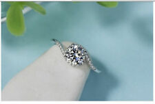 Wedding Ring 925 Sterling Silver 1.82Ct White Round Moissanite Engagement
