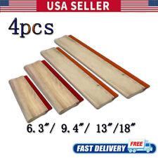 4pcs Silk Screen Printing Squeegee Ink Scraper 63 94 1318 Scratch Board