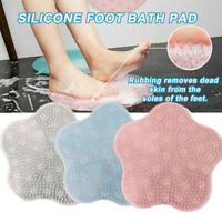 Bathroom Carpet Shower Mat Lazy Bath Massage Pad Silicone Brush Foot Massager