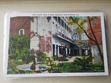 Vintage Postcard Old Courtyard New Orleans  La