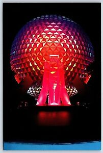 Spaceship Earth EPCOT Center Ball Walt Disney World Continental Postcard Unused
