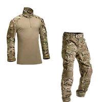US Army G3 Combat Uniform Shirt & Pants Set Military Airsoft MultiCam Camo BDU