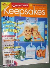 Keepsakes Scrapbook Magazine Summer With Patterns July/August 2002 Back Issue
